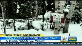 Teen Skier Nicholas Joy Survived in Snow Cave   Teen Rescued from Snow Cave