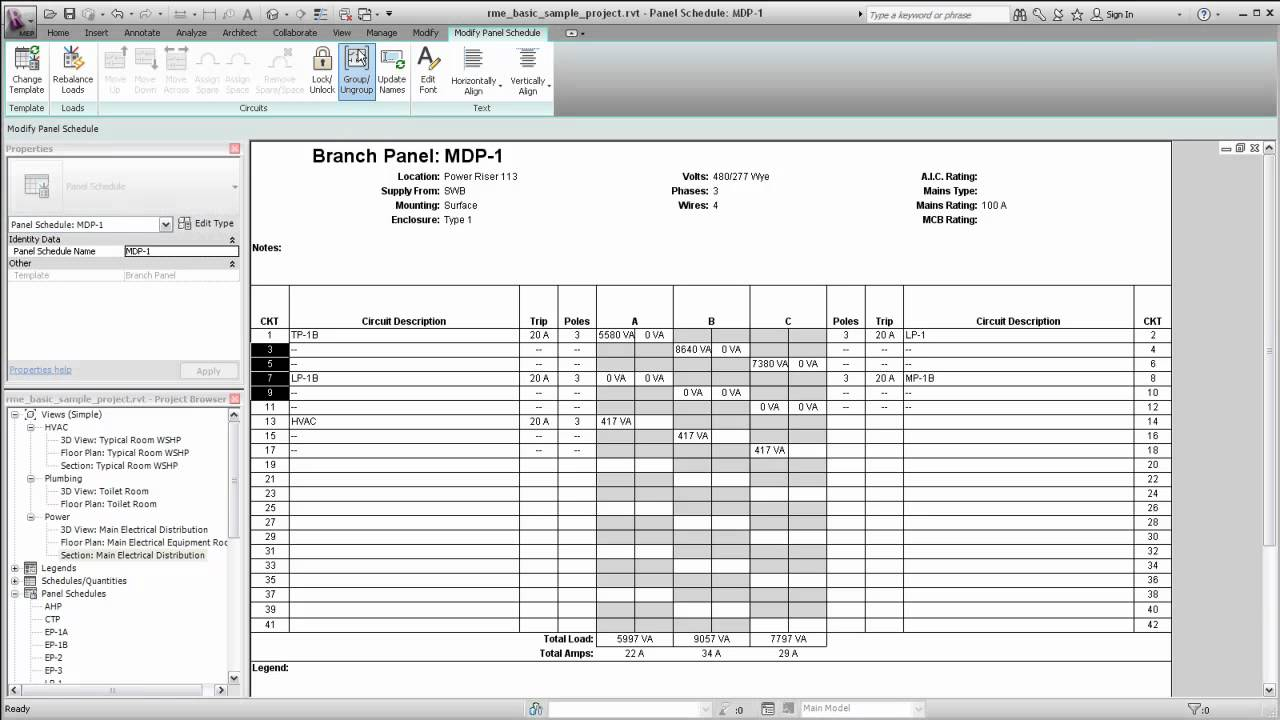 Template for electrical panel schedule free programs for Circuit directory template download