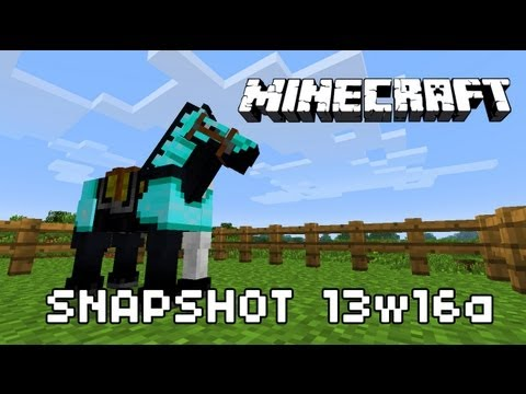 Minecraft Snapshot 13w16a Look: Horses. Carpets. Armor with Wolv21