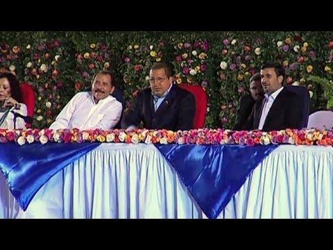 Ortega asume en presencia de Chávez y Ahmadinejad