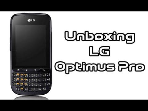 LG Optimus Pro C660. unboxing in italiano by AndroidWorld.it