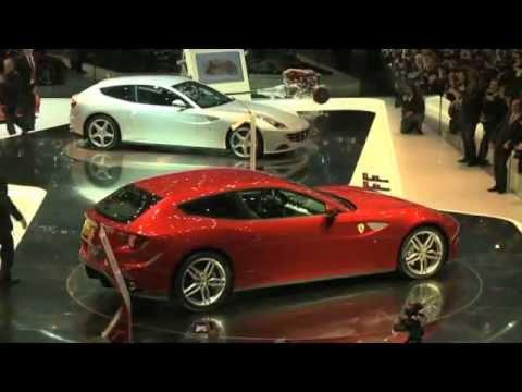 Ferrari FF и Lamborghini Aventador, автосалон в Женеве 2011