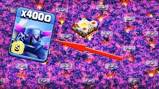 4000 Max Pekka Unbelievable Attack Funny Gameply on COC Private Server 2018