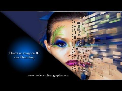 chapitre XI - retouche photoshop - effet 3D sur un visage