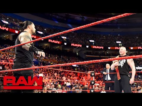 Roman Reigns and Brock Lesnar meet before the Greatest Royal Rumble event: Raw, April 23, 2018 thumbnail