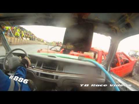 Warton Stock Car Club- Metal Mania 2014 Unlimited Bangers- TB Race Videos