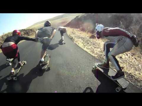 Gravity Bikes Drift Tikes DH Skateboards and Cliff Jumping - Maryhill Freeride Fall 2012