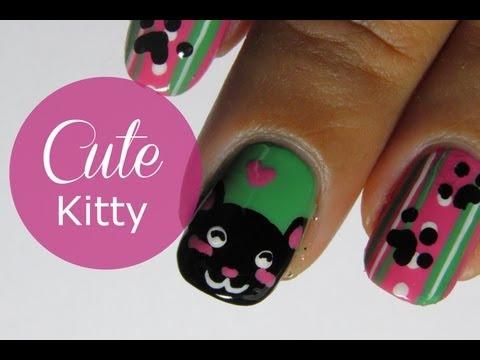 Cat nail art tutorial