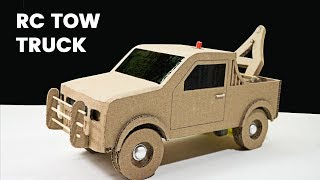 How to make simple RC Towing Truck using Cardboard | crafts & DIY