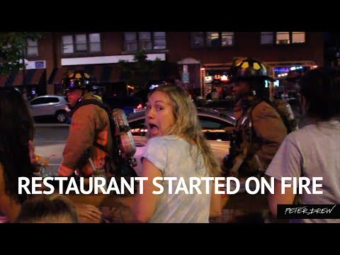 RESTAURANT STARTED ON FIRE // EVERYONE IS OKAY