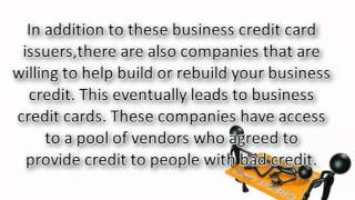 Business Credit Cards for Those with Bad Credit