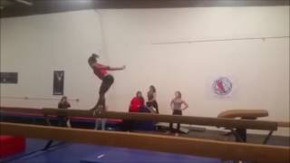 Simone Biles Double Double Tuck Off Beam