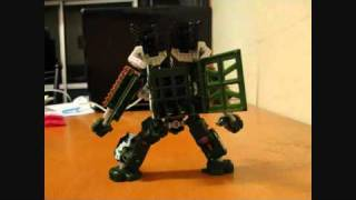 Transformers Hunt for the Decepticons Deluxe Class Hailstorm VS Ironhide Stop Motion