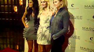 Allison Melnick, Paris Hilton And Jennifer Rovero at Marquee Nightclub Las Vegas