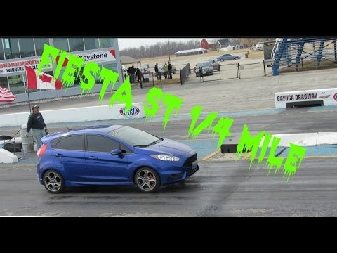 2014 Ford Fiesta ST 1/4 mile STOCK 14.88@94