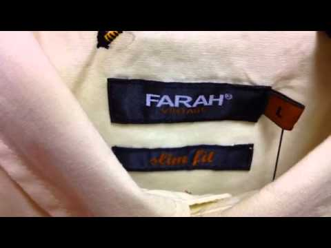 Farah Vintage Fly Fishing Shirt from 23seven clothing.