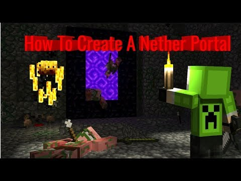 How To Build A Nether Portal In Minecraft!