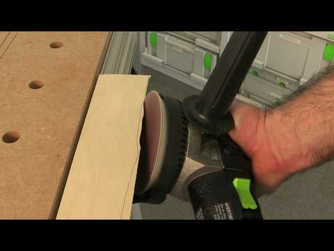 Sanding to a scribe line with the Festool RAS 115 sander
