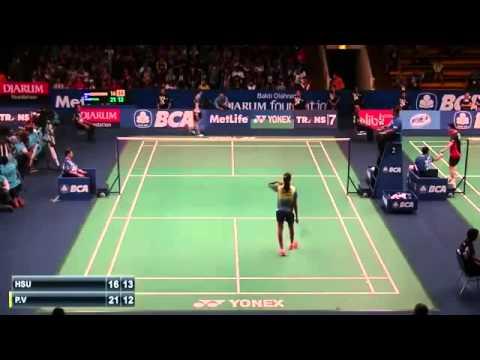 2015 BCA Indonesia Open R32 [WS] HSU Ya Ching vs P. V. Sindhu (Sports)
