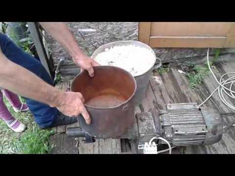 Садовый измельчитель для травы и веток из болгарки