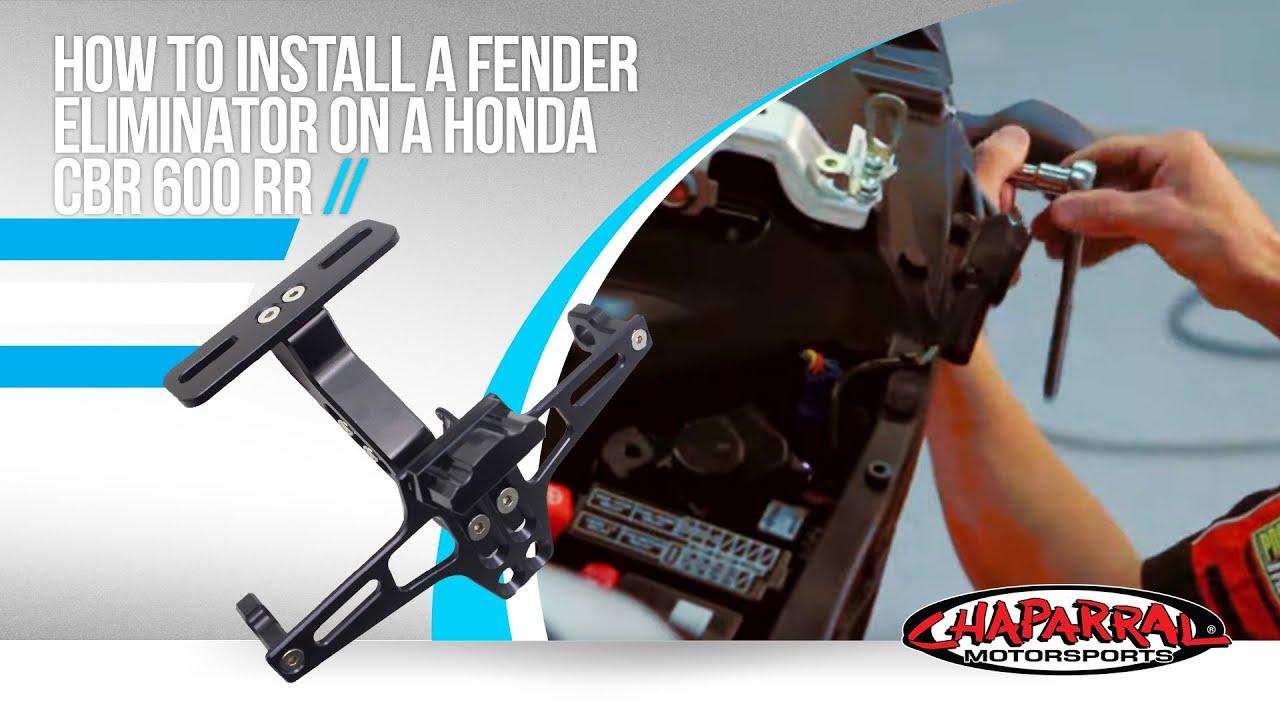 How To Install A Fender Eliminator On A Honda Cbr 600 Rr
