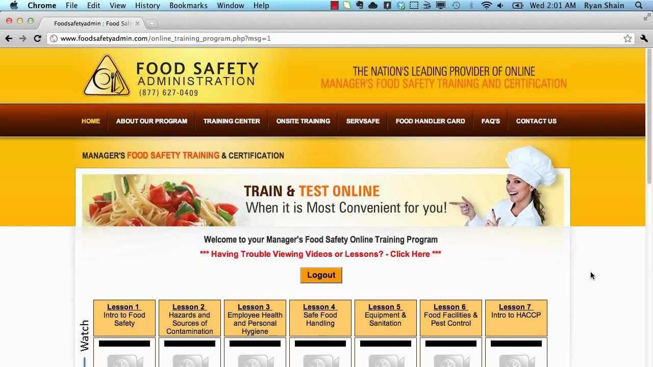 Online Food Online Food Manager Exam