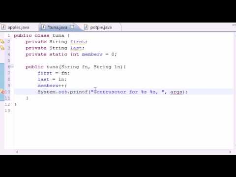 Java Programming Tutorial - 46 - Static Video