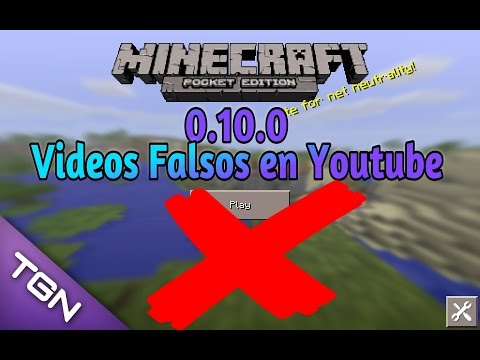 Videos Falsos de Minecraft Pocket Edition 0.10.0•No te dejes engañar