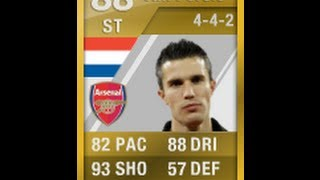 FIFA 12 Ultimate Team UP Van Persie Player Review
