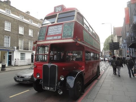Beautiful Classic Vintage RT & RM Routemaster Buses from the 1950's and 1960's seen on bus route 29