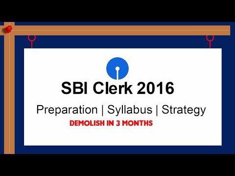 SBI clerk 2016 preparation | How to Crack it !