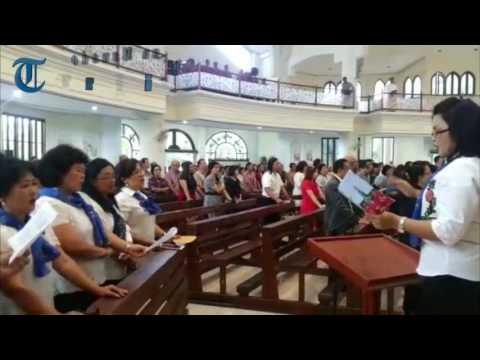 Unik, Musik Bambu Iringi Lagu Ordinarium Misa 25 Tahun Imamat #1