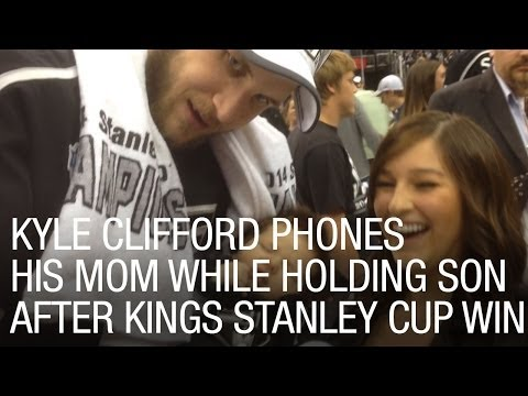 King's Kyle Clifford Holds Baby Son And Calls His Mom After Stanley Cup Win video