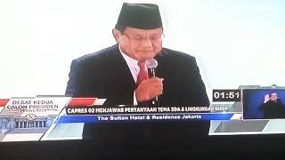 MASALAH LINGKUNGAN HIDUP - jokowi vs Prabowo