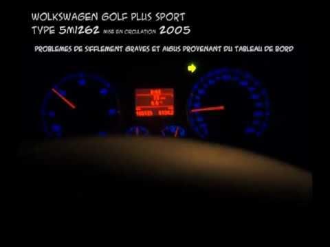 sifflement provenant du tableau de bord de wolkswagen golf 2005 youtube. Black Bedroom Furniture Sets. Home Design Ideas