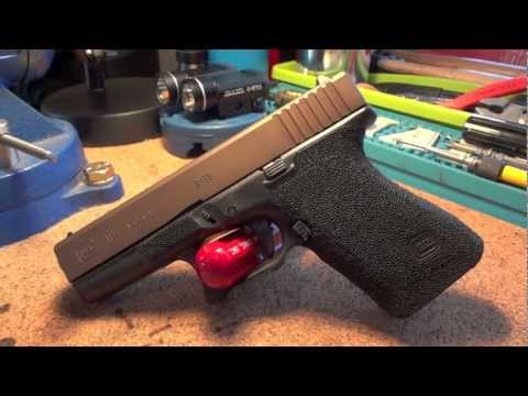 Glock 19 Gen 2. 9mm with Nitre Bronze Slide Assembly. Lava Rock Stippling. and Grip Reduction
