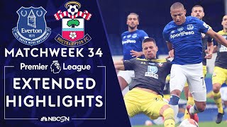 Everton v. Southampton | PREMIER LEAGUE HIGHLIGHTS | 7/9/2020 | NBC Sports