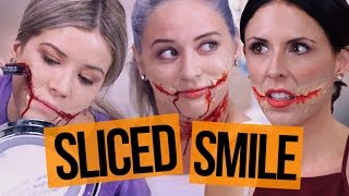 Semi-Successful HALLOWEEN Sliced Smile TUTORIAL!? (Beauty Break)