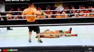 WWE  fake moment;  John Cena, Randy Orton at their best fake fight. Ridiculous