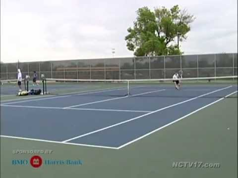Hinsdale Central vs Naperville North Boys Tennis April 13, 2012
