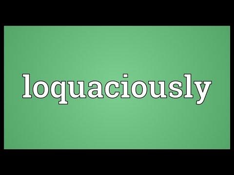 Header of loquaciously