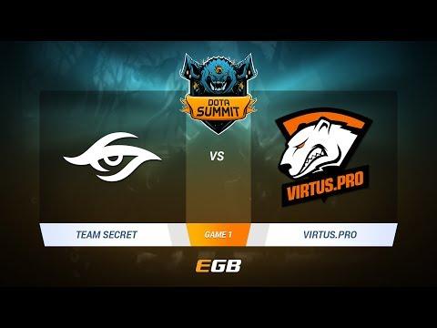 Team Secret vs Virtus.Pro, Game 1, DOTA Summit 7 LAN-Final, Day 5