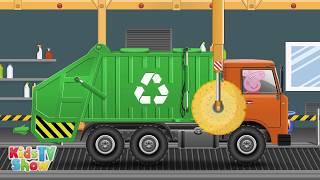 Pippa Pig Garbage Truck - Vehicles for Children - Kids TV Show