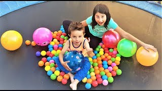 BALL PIT For Learning Colors for Children. Happy Kids have Fun Playing with Ball Pit.