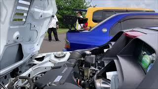お車拝見します「トランクスペースとミッドシップエンジンを見せてください」abiさんのS660