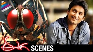 Eecha Movie Scenes w/subtitles - Nani reborn as Eecha - Samantha, Sudeep