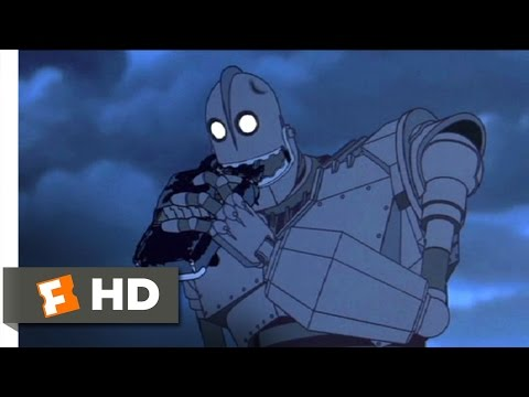 The Iron Giant (4/10) Movie CLIP - Hungry For Scraps (1999) HD
