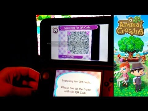 Animal Crossing New Leaf - Day 22 - QR Code Able Sisters Fabric Machine