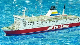 RC MODEL SCALE SHIPS, RC FISHING BOATS, RC FERRY, RC CRUISE SHIP IN ACTION ON THE POOL!!