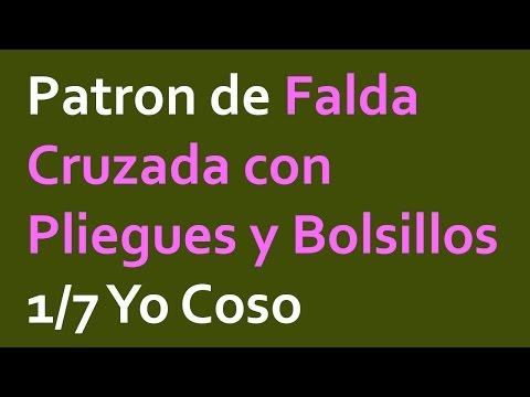 Proyecto Faldas: Falda Cruzada con Pliegues y Bolsillos PARTE 1/7